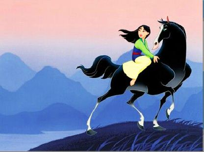 Mulan On Her Horse Puzzle Game