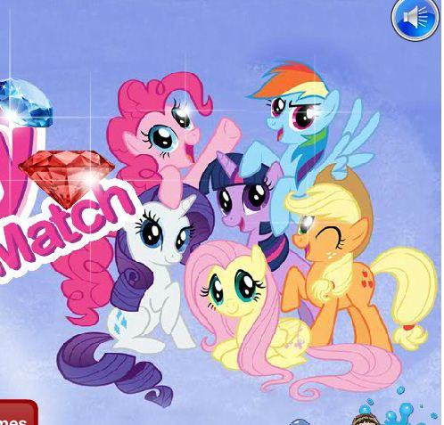 My Little Pony Jewel Match Game