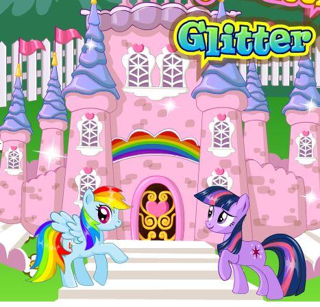 My Little Pony Glitter Castle Game