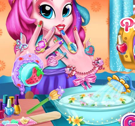 Pinkie Pie Nails Spa Game