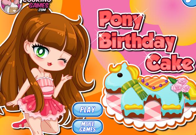 Pony Birthday Cake Game