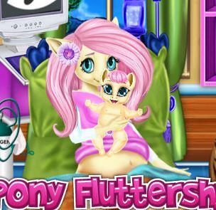 Pony Fluttershy Baby Birth Game