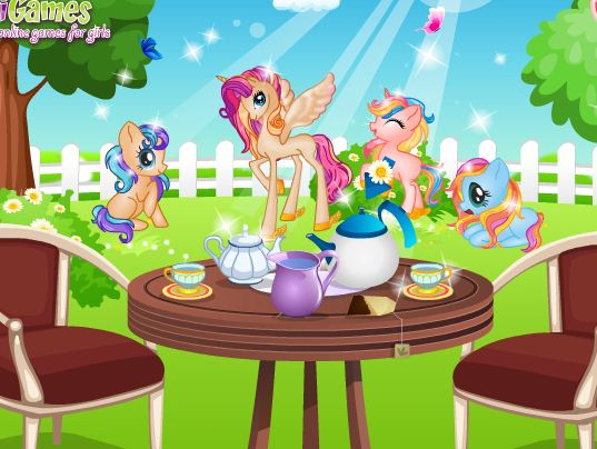 Pony Princess Tea Party Game