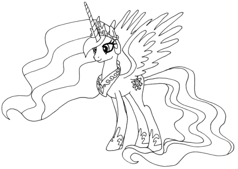 Princess Celestia from My Little Pony Game