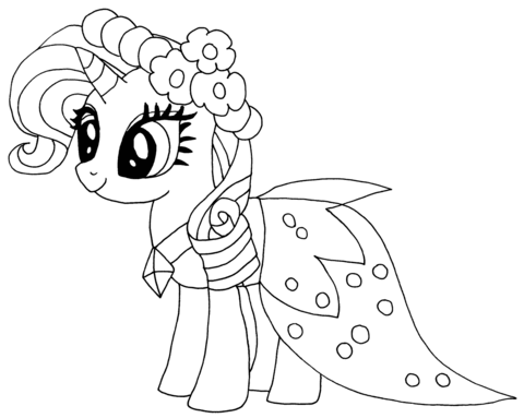 Princess Rarity from My Little Pony Game