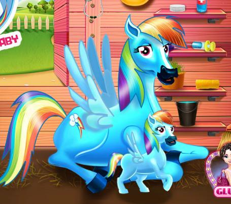 Rainbow Dash And The Newborn Baby Game