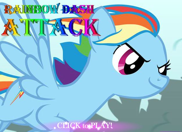 Rainbow Dash Attack Game