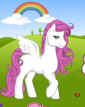 Rainbow Pony Dress Up Game