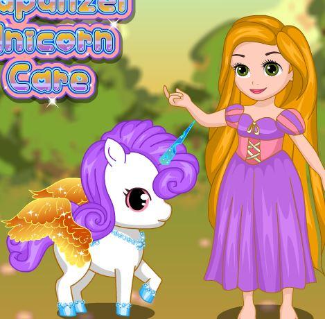 Rapunzel Unicorn Care Game