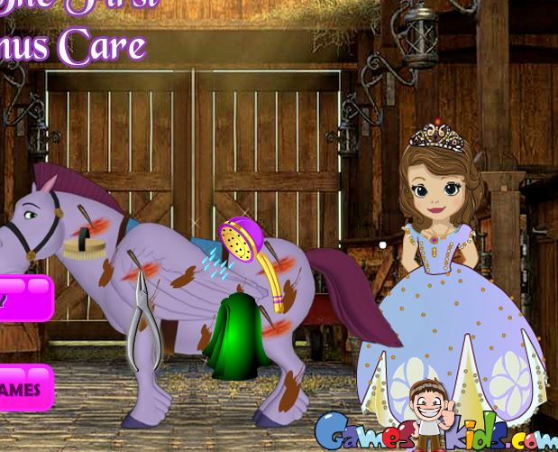 Sofia The First Minimus Care Game