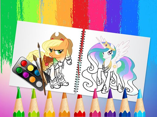 Sweet Pony Coloring Book Game