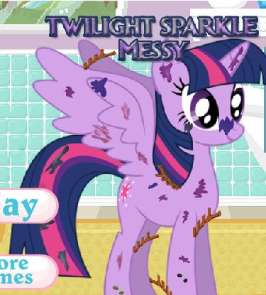 Twilight Sparkle Messy Game