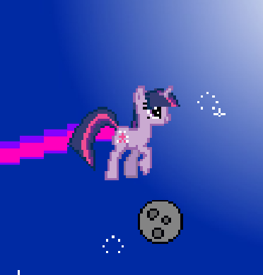 Twilight Sparkle Sweet Nyan Cat Adventure Game