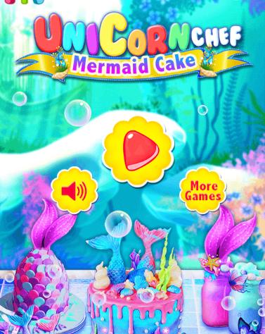 Unicorn Chef Mermaid Cake Game