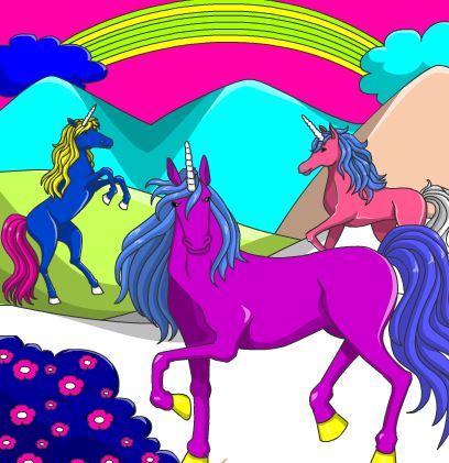 Unicorn Herd Coloring Game