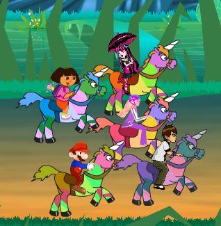 Unicorns Star Race Game