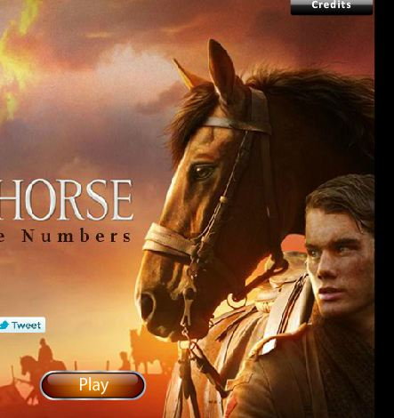War Horse Find The Numbers Game