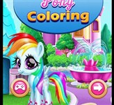 Wonder Pony Coloring Game