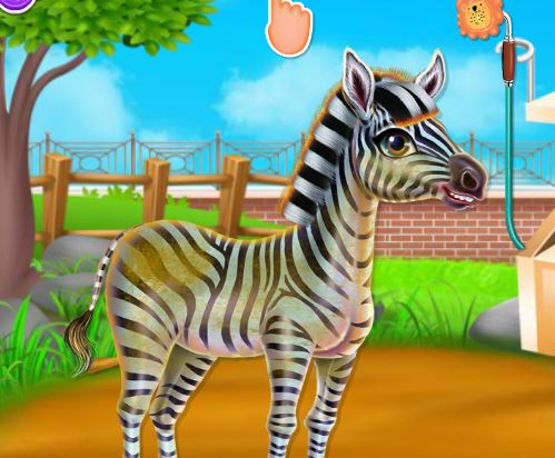 Zebra Caring Game