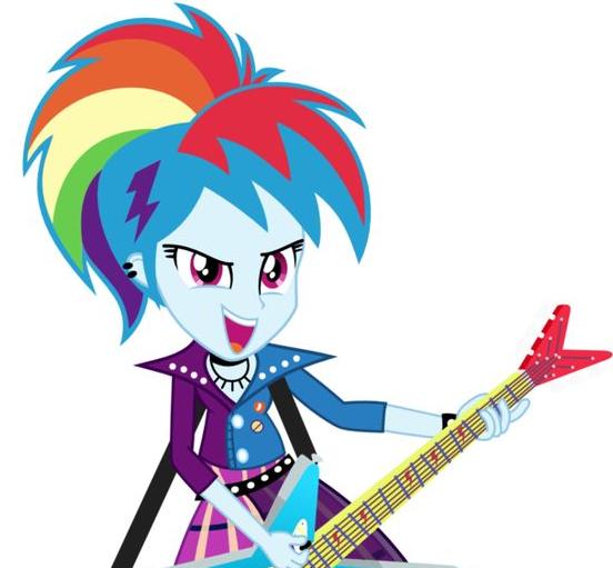 My Equestria Girl Rainbow Dash Happy