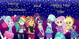 MLP Equestria Girls Merry Christmas and Happy New Years 2019 Picture