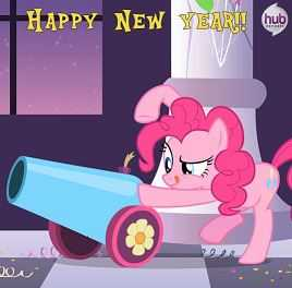 Pinkie Pie Happy New Year Picture