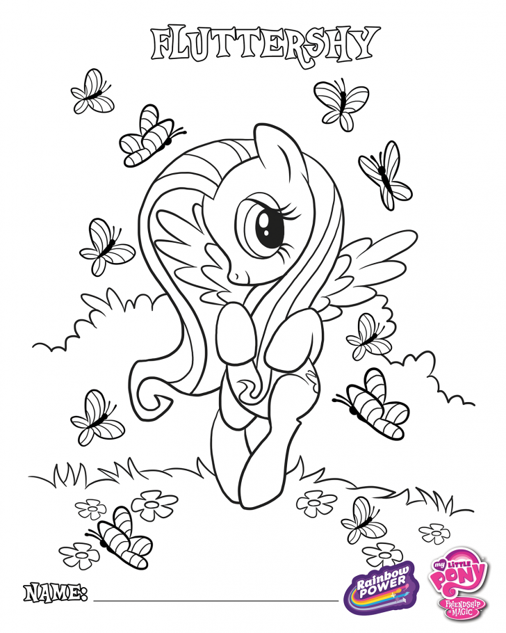 Coloring book My Little Pony: Cutie Fluttershy Coloring Page