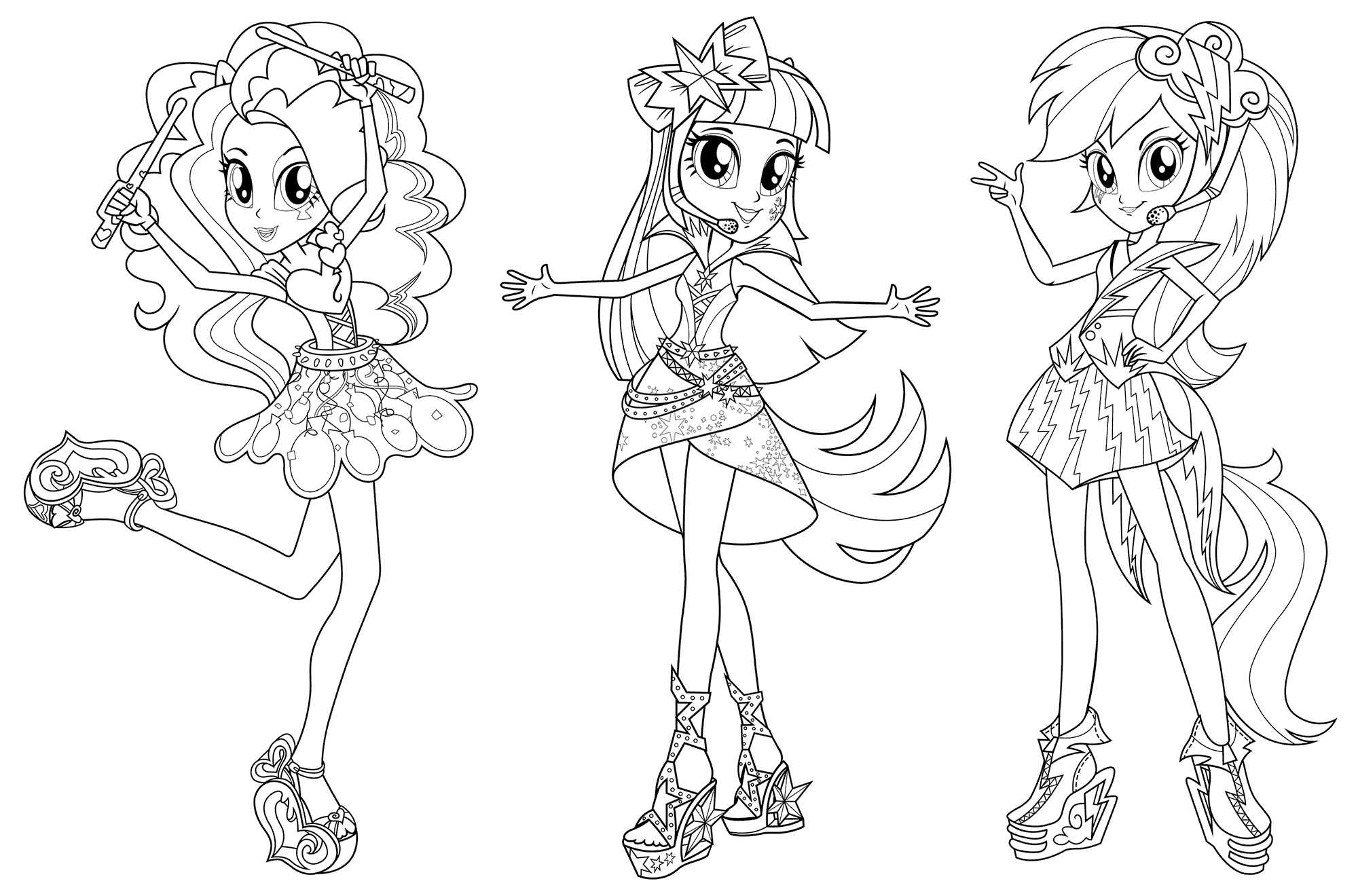 My Equestria Girl Rainbow Rocks Coloring Page