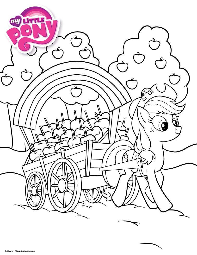 My Little Pony AppleJack Apple Coloring Page