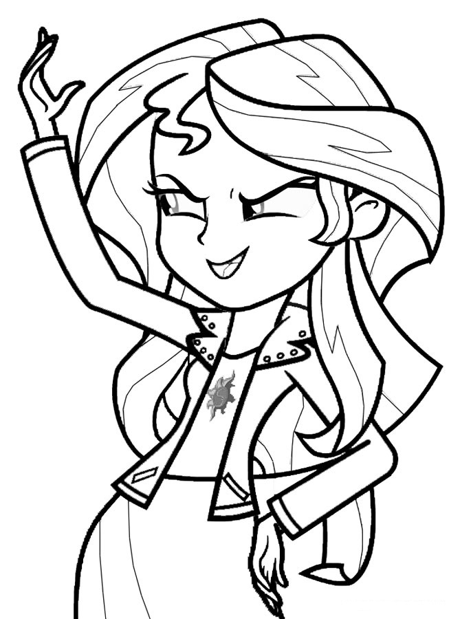 My Little Pony Princess Sunset Shimmer Coloring Page - My Little ...