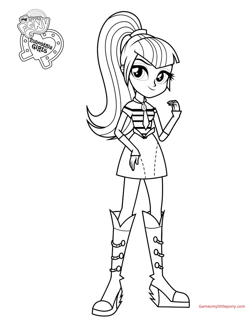 My Little Pony Princess AppleJack Picture Coloring Page