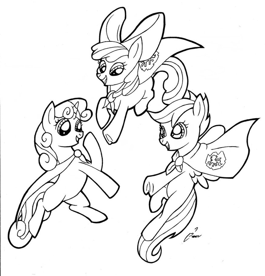 MLP Cutie Mark Crusaders  Coloring Page