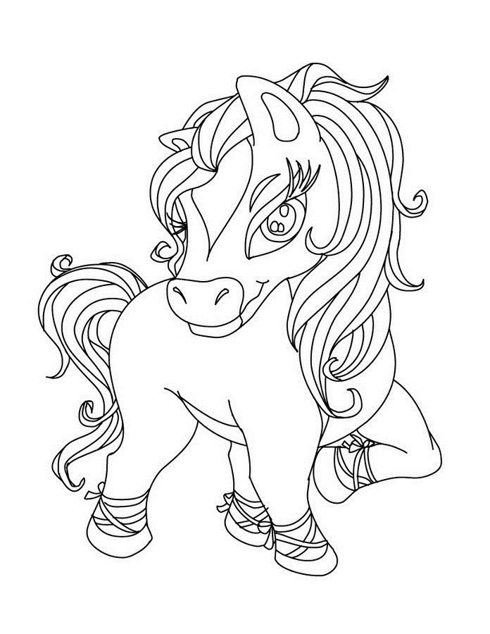 My Horse Coloring Page