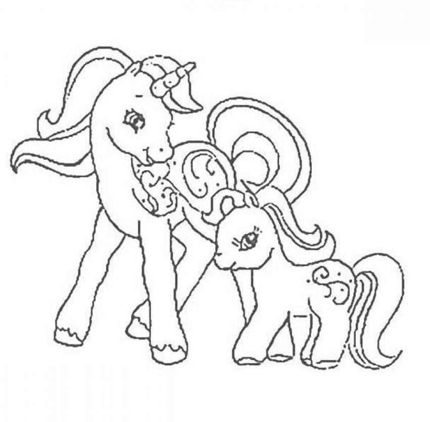 My Little Pony Mother And Her Baby Coloring Page