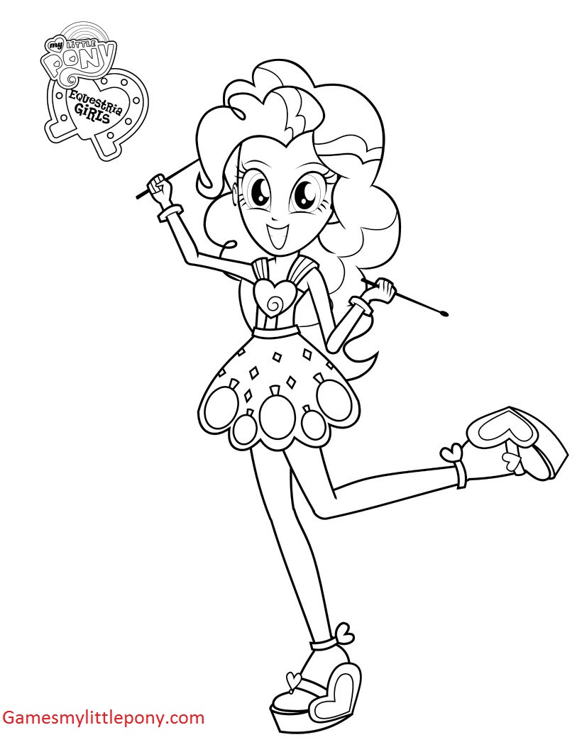 My Little Pony Princess Pinkie Pie Funny Coloring Page