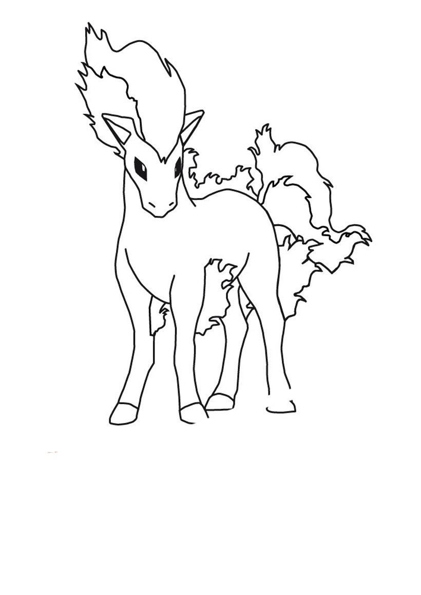 My Little Ponyta Coloring Page