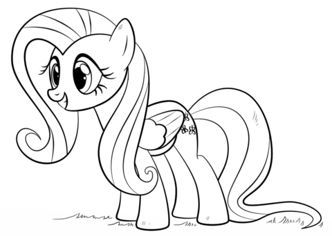 Fluttershy Pony Coloring Coloring Page