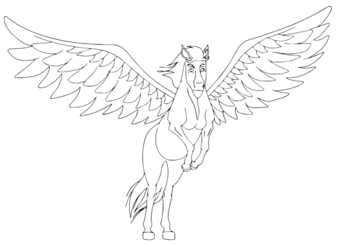 My Little Pony Pegasus is Taking off  Coloring Page