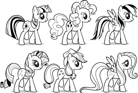 My Little Pony The Friends Coloring Page