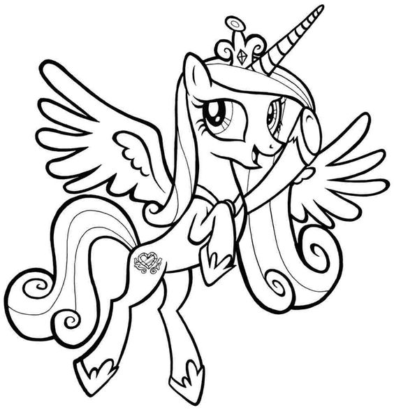 My Little Pony Princess Cadance Coloring Page - My Little Pony ...