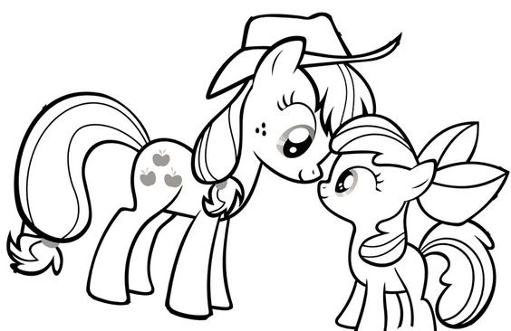 My Little Pony Princess AppleJack And Baby Coloring Page My