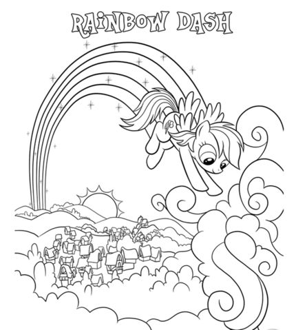 My Little Pony Apple Jack RainBow Dash Coloring Page