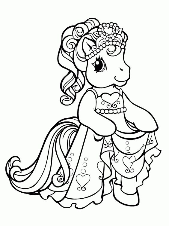 My Little Pony Princess Dress Up Coloring Page My Little Pony