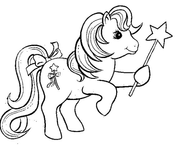 My Little Pony Princess With Star Coloring Page