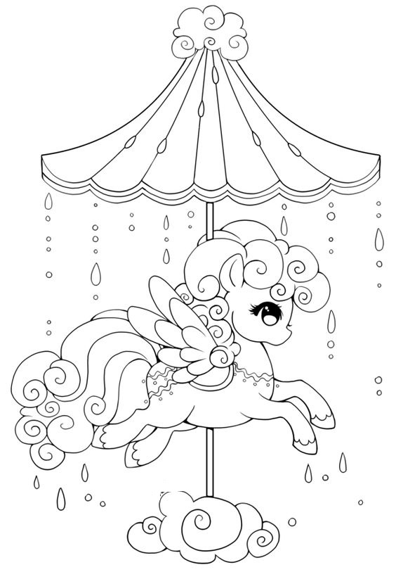 My Little Pony Celestial Carousel Cloud  Coloring Page