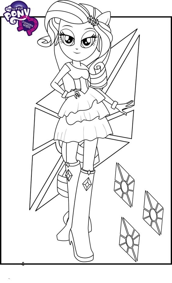 My Equestria Girl Rarity Coloring Page