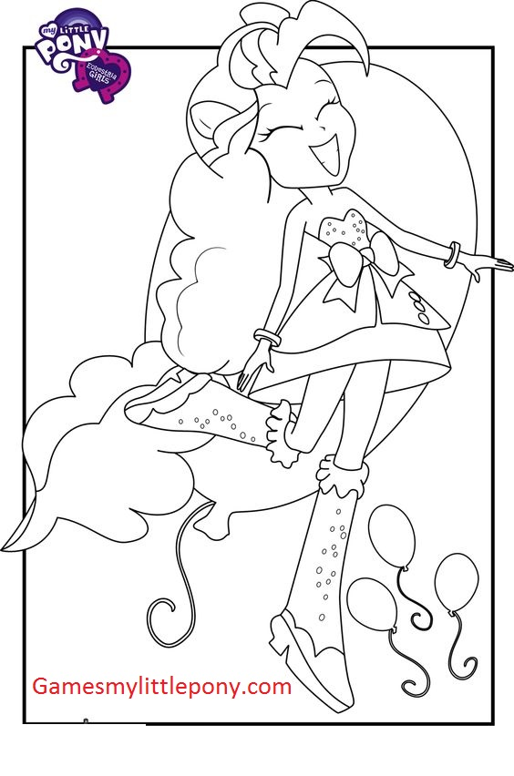 My Equestria Pinkie Pie With Balloons Coloring Page