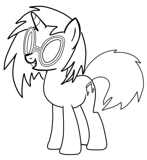 My Little Pony DJ Pon Coloring Page