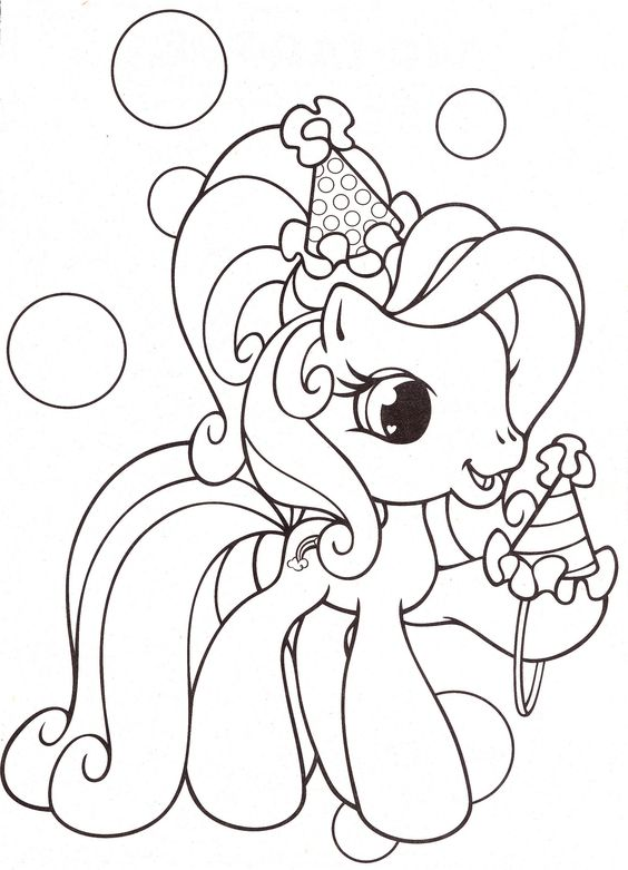 My Little Pony Rarity With Cream Coloring Page