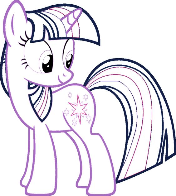 My Little Pony Nice Twilight Sparkle Coloring Page
